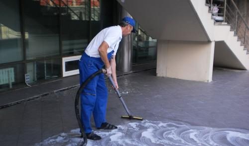 мытье тротуарной плитки