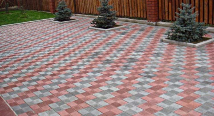 Рисунок тротуарной плитки Шахматка