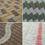 Виды тротуарной плитки — описание и характеристика материалов
