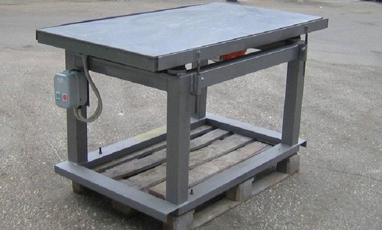 Изготовление вибростола для производства тротуарной плитки своими руками