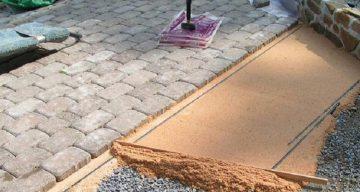 Технология укладки тротуарной плитки на песок - этапы работ