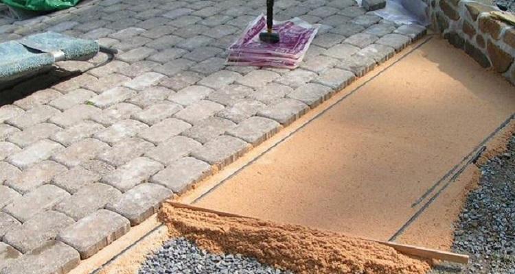 Укладка тротуарной плитки : фото, видео
