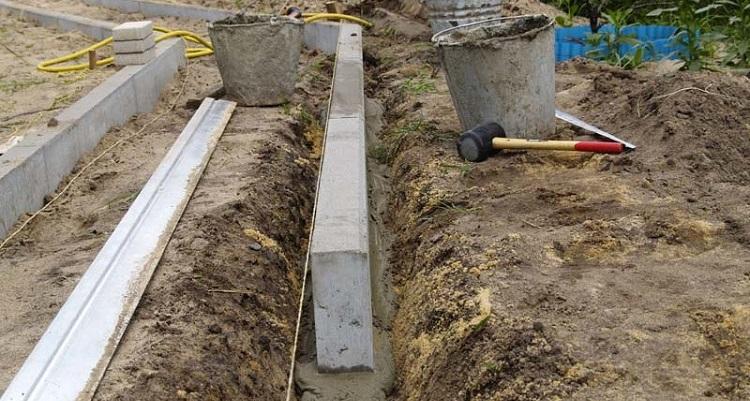 Установка бордюра при укладке тротуарной плитки на песок - основные моменты