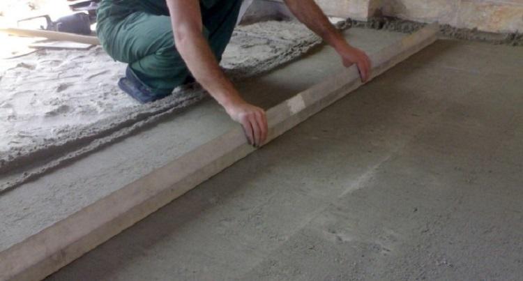 Подготовка бетонного основания под укладку тротуарной плитки