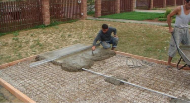 Укладка на бетон завод по производству домов из бетона